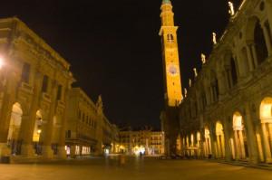 Vicenza, Piazza dei Signori in notturna