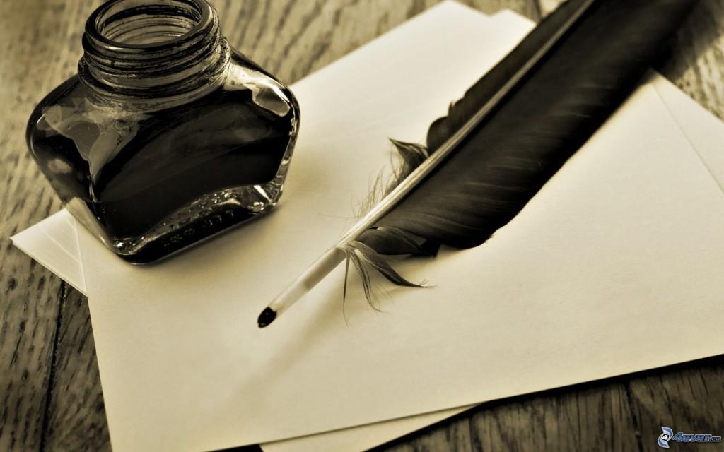 [immagini.4ever.eu] piuma, inchiostro, fogli 166203